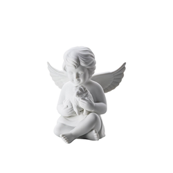 Rosenthal Engelfigur Engel gross Weiß matt Engel mit Hund (1 Stück)