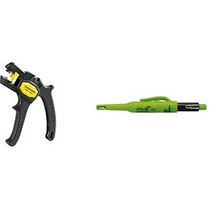 Jokari 20050 Abisolierzange Super 4 plus & Pica Tieflochmarker Dry Longlife, langlebiger Marker mit Spitzer und Halteclip, Spezial-Graphitmine 2.8 mm ,grün, Art.-Nr. 3030.0