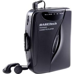 Basetech Tragbarer Kassettenspieler Schwarz