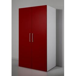 RESPEKTA Miniküche mit Glaskeramik-Kochfeld, Kühlschrank und Mikrowelle rot