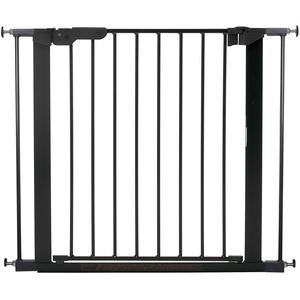 BabyDan Premier Türschutzgitter / Treppenschutzgitter zum Klemmen, 86 - 93.3 cm - hergestellt in Dänemark und vom TÜV GS geprüft, Farbe: Schwarz