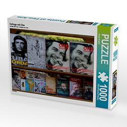 Collage mit Che Lege-Größe 64 x 48 cm Foto-Puzzle Bild von Andre Krajnik Puzzle