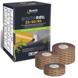 Bostik Roll 25 Sockelleisten Fußleisten Klebeband 25mm x 50m Rolle