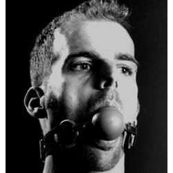 Mundknebel mit Hartgummiball