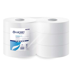 6 Rollen, Strong Lucart 270, Maxi Jumbo Toilettenpapier,