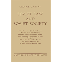 Soviet Law and Soviet Society als Buch von George C. Guins