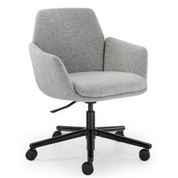 HAWORTH Poppy Bürostuhl Konferenzstuhl auf Rollen - Stoff grau