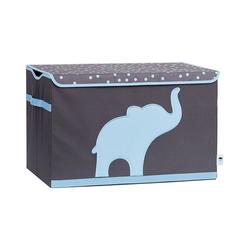 STORE IT! Aufbewahrungsbox Spielzeugtruhe Stern, grau/weiß blau