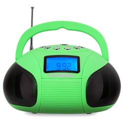 McGrey Boombox MC-50BT-GR Bluetooth Lautsprecher mit USB/SD Slots und FM-Radio, grün