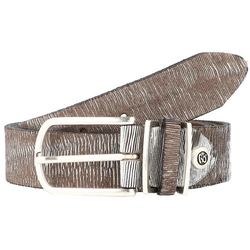 b.belt Fashion Basics Cuno Gürtel Leder silbermetallic 100 cm