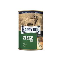 Happy Dog Nassfutter für Hunde  Ziege Pur 12x 400 g