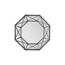 Spiegelprofi Metallspiegel Lina in schwarz, 46 x 46 cm