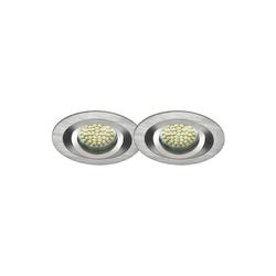 LED Einbaustrahler 2er-SET MR16, GU5.3, 12V, warmweiß, rund 5W Marken-LE