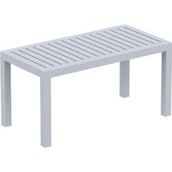 Lounge Tisch OCEAN I Wetterfester Gartentisch aus UV-beständigem Kunststoff I wetterfest und UV-beständig I robuster Gartentisch... grau