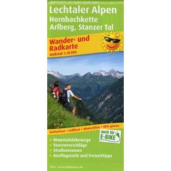 Lechtaler Alpen Hornbachkette Arlberg Stanzer Tal Wander- und Radkarte 1 : 35 000