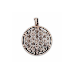 KUNST UND MAGIE Amulett Blume des Lebens Anhänger Amulett Anhänger Talisman Silber 925