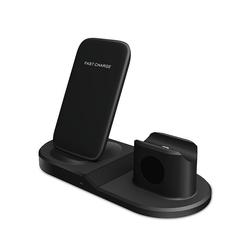 esyBe 3 in 1 Induktive Ladestation, Wireless Ladestation, Wireless Charger, 10W Fast Kabelloses Ladegerät Handy Wireless Charging Ladepad Kompatibel, Ladepad, Induktions Ladegerät, Kabelloses Ladegerät, XFDZ-45 Wireless Charger