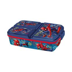 p:os Brotschale Brotdose mit 3-Fach-Unterteilung Spiderman