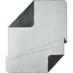 Wohndecke UNI, Kneer, kuschelige Wendedecke in großer Farben-Vielfalt grau