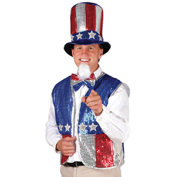 Halloween Adult Uncle Sam Costume Accessory Set, Adult Unisex