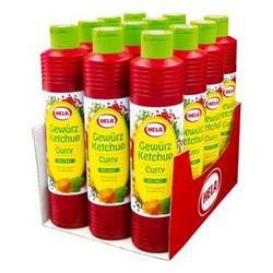 Hela Gewürz Ketchup Curry delikat 800 ml, 12er Pack