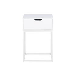 Designer-Nachttisch mit weißer Schublade - MITRAA