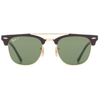 Ray Ban Clubmaster Double Bridge RB3816 black / green classic