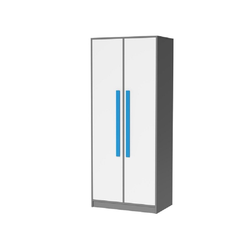 Feldmann-Wohnen Kleiderschrank GIT Griffe in Blau