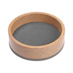 HEY-SIGN Organizer Ablageschale Bowl Ø 13,5 cm aus Filz/Holz; Taschenleerer, Schlüsselablage, Schmuckablage; Made in Germany grau