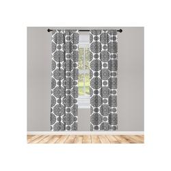 Gardine Vorhang für Wohnzimmer Schlafzimmer Dekor, Abakuhaus, Mandala Oriental Mandala-Entwurf 150 cm x 245 cm