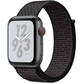 Apple Watch Nike+ Series 4 (GPS + Cellular) 44mm Aluminiumgehäuse space grau mit Nike Loop Sportarmband schwarz