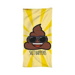 SkyBrands Badetücher Strand- und Badetuch Emoji, 75 x 150 cm