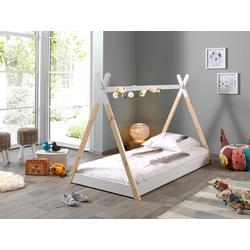 Vipack Kinderbett Tipi, mit Lattenrost 107 cm x 206 cm x 134 cm
