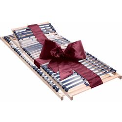 Beco Lattenrost Dura Flex LR-K, 7 Zonen, 2-tlg. ideal für Doppelbetten 90 cm x 190 cm x 7,5 cm