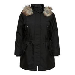 ONLY Curvy Parka Damen Schwarz Female M-46/48