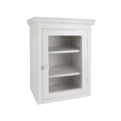 Ib Laursen Wandregal Laursen - Wandschrank mit Metallfront Weiß 9311-11 Küchenschrank Schrank Shabby