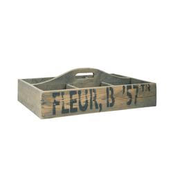 Ib Laursen Holzkiste Ib Laursen - Holzkorb Holzkiste 6 Fächer Henkel Schrift 5255-14 Korb Kiste Holz