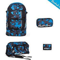 Satch Pack Blue Triangle 4 tlg. Schulrucksack Set