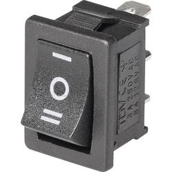 Wippschalter Mini-Wippenschalter MRS-103-C6 Ein-Aus-Ein 1St.