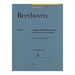 Am Klavier - Beethoven. Ludwig van - Am Klavier - 9 bekannte Originalstücke Beethoven  - Buch