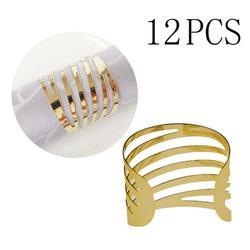 Masbekte Serviettenring, (12-tlg), 1 / 12 Serviettenringe Set, Esszimmer, Formal Dekoration, Metall, Tisch Serviettenhalter