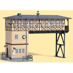 Auhagen Modelleisenbahn-Gebäude Brückenstellwerk, Spur H0, Made in Germany