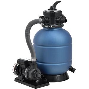 Juskys Sandfilteranlage PSFA20A – Robuster Pool-Filter mit 4 Wege-Ventil und Druckanzeige