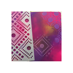 VBS Malschablone Schablone Dots Pattern, DIN A5 Format Motivschablone