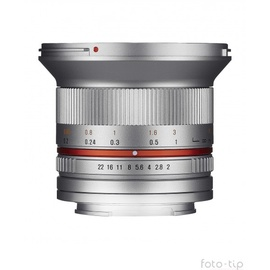 Samyang 12 mm F2,0 NCS CS Sony E silber