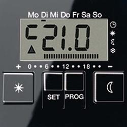 Jung Uhren-Therm.-Display sw für Uhren-Th.Einsatz A UT 238 D SW