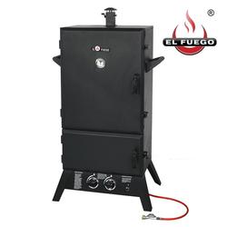 El Fuego Smoker, Mit Thermometer, Barbecue Gasgrill BBQ Dampfgarer Räucherofen