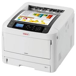 OKI C824dn Farb-Laserdrucker grau