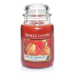 YANKEE CANDLE Große Kerze SPICED ORANGE 623 g Duftkerze