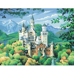 VBS Malen nach Zahlen Schloss Neuschwanstein, 29,2 cm x 38,2 cm